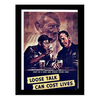 Loose Talk Can Cost Lives Postcard