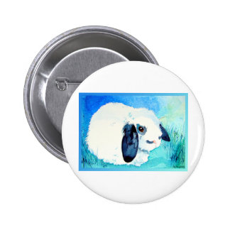 Lop Eared Bunny Pinback Button