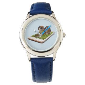 Lop Eared Bunny Rabbit Family Tech Swavy, Blue Watch