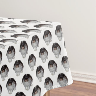 Lop-Eared Rabbit Frenzy Tablecloth (choose colour)