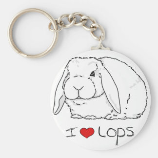 Lop Rabbit Basic Round Button Key Ring