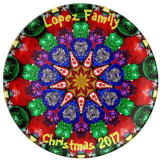 LOPEZ FAMILY~ Personalized Christmas Design ~ Plate
