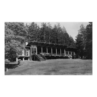 Lopez Island, WA - Lodge Hendersan Camps Poster