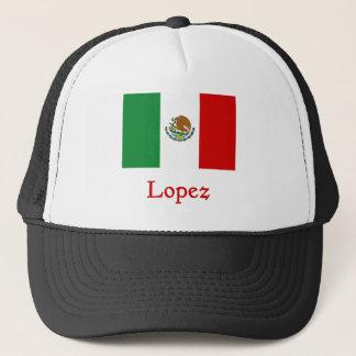 Lopez Mexican Flag Trucker Hat