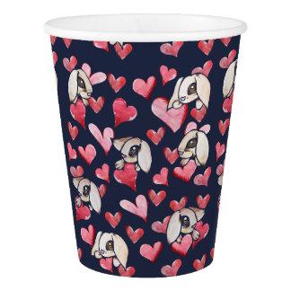 Lops of Love Rabbit Hearts Paper Cup