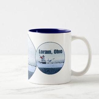 Lorain Lighthouse Coffee Mugs