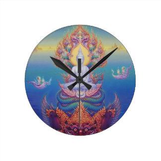 Lord Buddha Round Clock