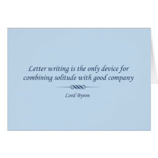 Lord Byron on Letters Card