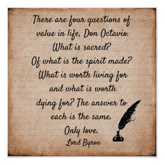 Lord Byron quote **12 x12 Art print