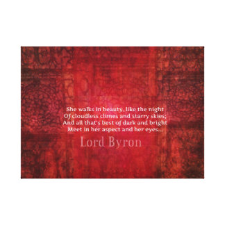 Lord Byron Romantic Love quote art typography Canvas Print