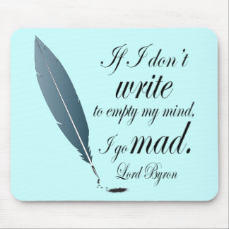 Lord Byron Writing Quote Computer Reading Gift Mouse Pad
