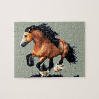 Lord Creedence Gypsy Vanner Horse Jigsaw Puzzle