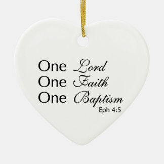 Lord Faith Baptism Ceramic Heart Decoration