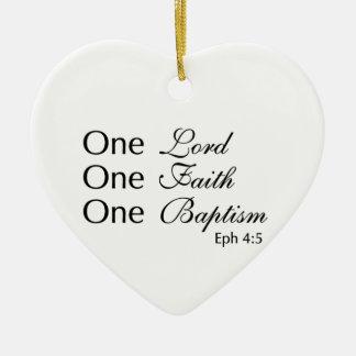 Lord Faith Baptism Ceramic Ornament