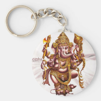 Lord Ganesa Good Luck Charm Basic Round Button Key Ring