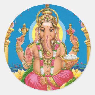 Lord Ganesha Classic Round Sticker