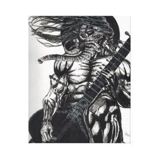 Lord ganesha playing sitar canvas print