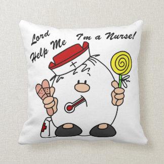 Lord Help Me I'm a Nurse Cushion