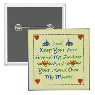 Lord Help Me Religious Humor Message Button