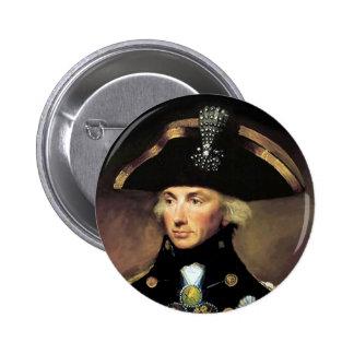 Lord Horatio Nelson 6 Cm Round Badge