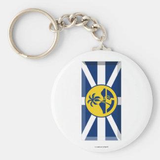 Lord Howe Island Flag Gem Basic Round Button Key Ring