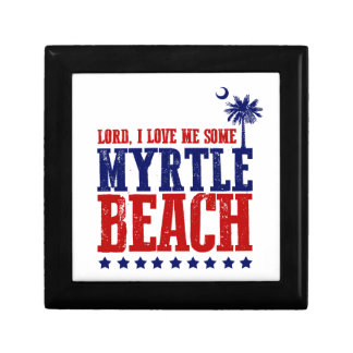 Lord, I Love Me Some Myrtle Beach Small Square Gift Box