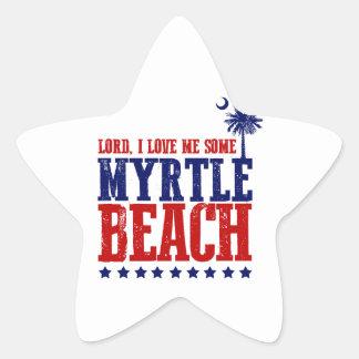 Lord, I Love Me Some Myrtle Beach Star Sticker