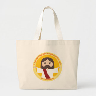 Lord Jesus Christ Large Tote Bag