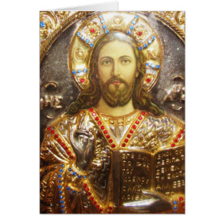 Lord Jesus Christ Orthodox Icon Card