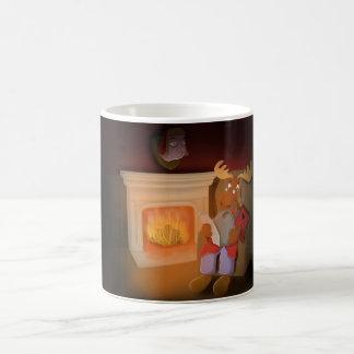 lord moose classic white coffee mug
