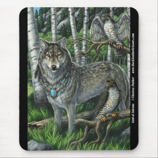 Lord of Falcons Wolf Mousepad