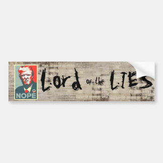 """Lord of the Lies"" Graffiti Wall With Trump Bumper Sticker"