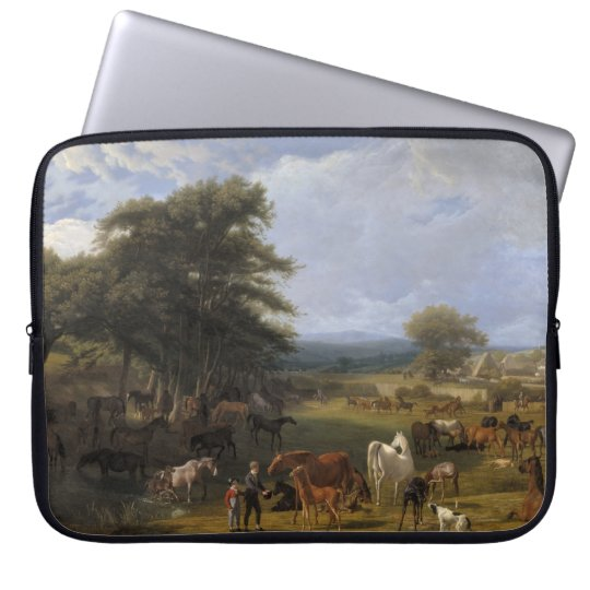 Lord River's Horse Farm oil on canvas Laptop Sleeve
