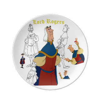 "Lord Rogers Porcelain Sketch Plate (8.5"")"
