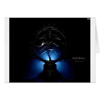 Lord Shiva Blue Background. Card