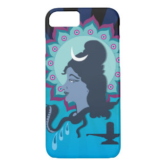 Lord Shiva Digital Illustration with Mandala Art iPhone 8/7 Case