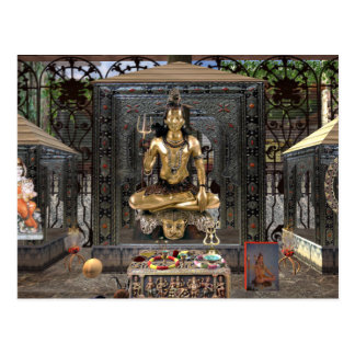 Lord Shiva Hindu Temple Postcard