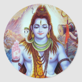 Lord Shiva Round Sticker
