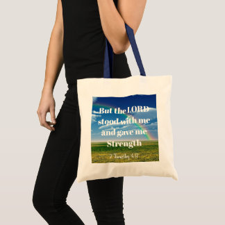 Lord stood with Me tote