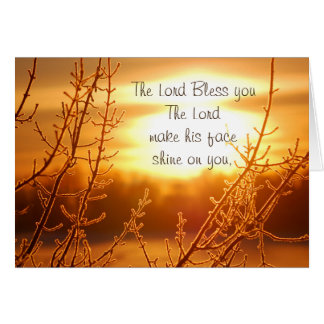 Lord's Blessing Bible Verse Greeting Card
