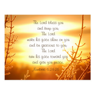 Lord's Blessing Bible Verse Postcard