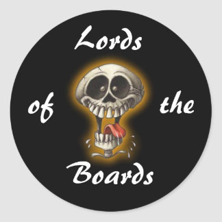 Lords, of, the, Boards Round Sticker