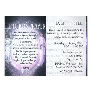 Lord's Prayer 13 Cm X 18 Cm Invitation Card