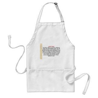 Lord's prayer apron