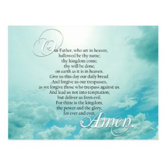 Lords Prayer Christian Spiritual Postcard