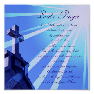 Lord's Prayer Design Poster