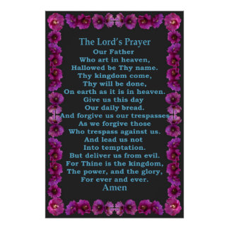 Lord's Prayer in a Cholla Cactus Frame Poster