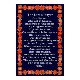 Lord's Prayer in a Hedgehog Cactus Frame Poster