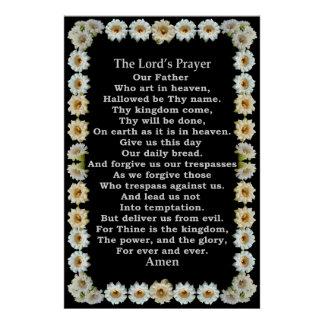 Lord's Prayer in a Saguaro Cactus Frame Poster
