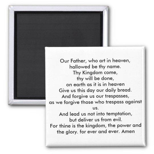 Lords prayer magnet